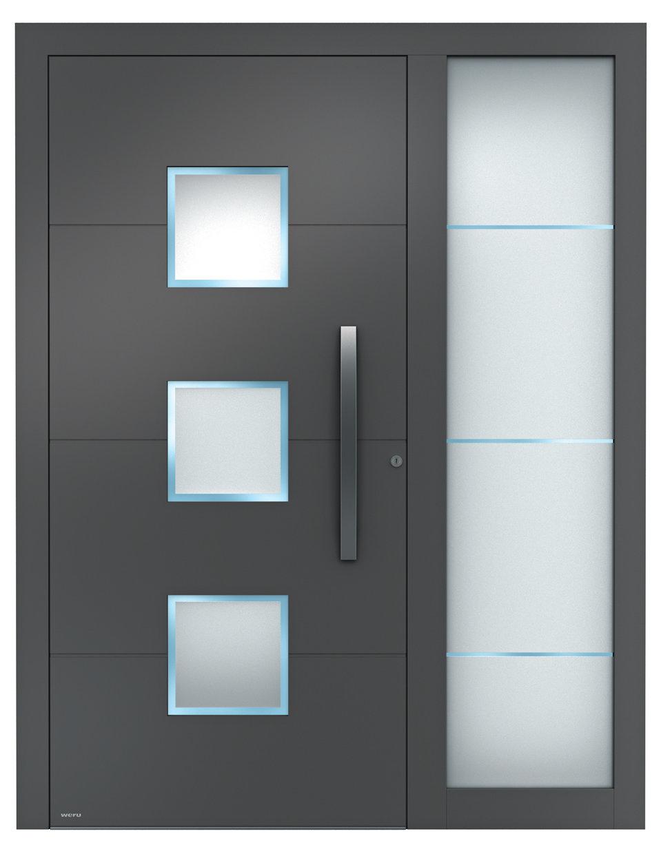 Haustüren modern mit seitenteil weiß  Aluminium-Haustüren Sedor modern mit Seitenteil | WERU Aluminium ...