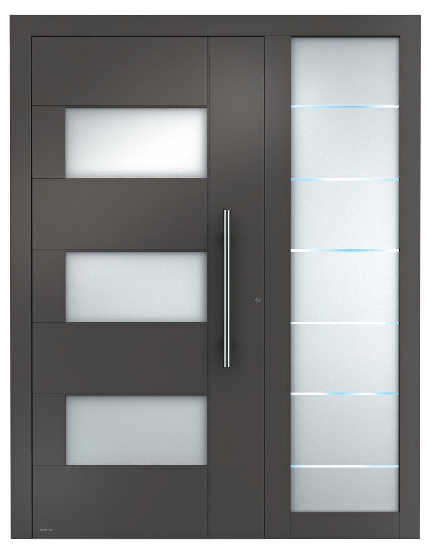 Haustüren modern mit seitenteil weiß  WERU Aluminium Haustüren Sedor modern mit Seitenteil | WERU ...