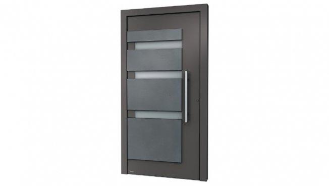 aluminium haust r mit 3d t rf llung und lichtausschnitt abverkauf restposten angebote. Black Bedroom Furniture Sets. Home Design Ideas